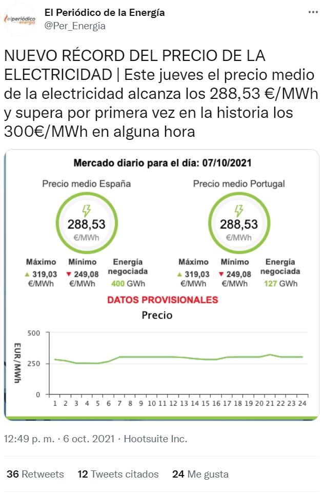 Los electrones se están poniendo a precio de jamón ibérico...