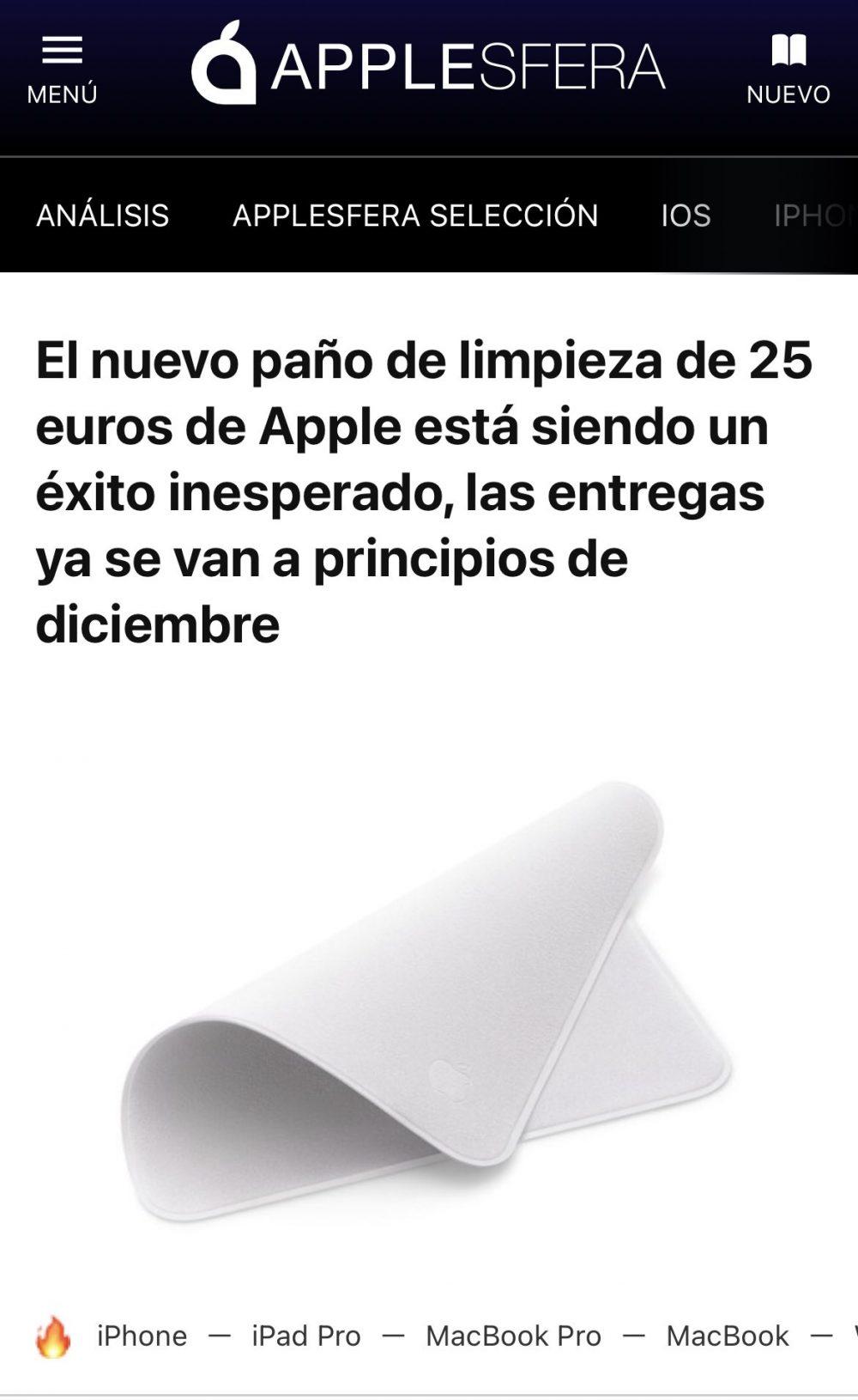 """Estoy seguro de que hay un tipo en Apple que se dedica exclusivamente a ver hasta qué punto pueden llegar los fanáticos de la marca, y cada cierto tiempo dice """"sujétame el cubata"""""""